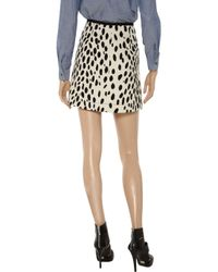 Sonia by Sonia Rykiel - Black Dalmatian-print Cotton-drill Skirt - Lyst
