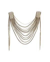TOPSHOP | Metallic Pearl Shoulder Drape | Lyst