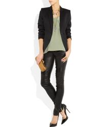 Balmain | Black Skinny Leather Pants | Lyst
