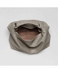 23b18cd9b1 Lyst - Bottega Veneta Shadow Intrecciato Light Calf Sloane Bag in Gray