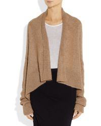 Rick Owens - Brown Draped Mohair and Silkblend Cardigan - Lyst