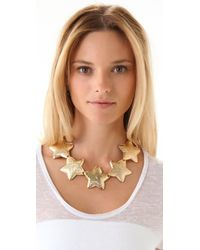 Tuleste - Metallic Interlocking Star Necklace - Lyst