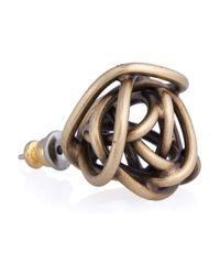 Kelly Wearstler - Metallic Brass Knot Stud Earrings - Lyst