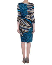 Versace | Blue Short Dress | Lyst