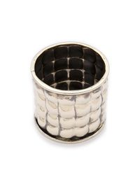 Anndra Neen - Metallic Quilted Bangle - Lyst