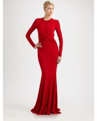 Michael Kors | Red Jersey Goddess Gown | Lyst