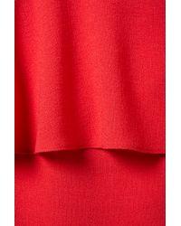 Topshop | Red Textured Peplum Skirt | Lyst