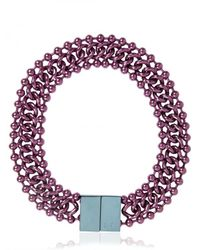 Bex Rox | Purple Ball Chain Collar Necklace | Lyst