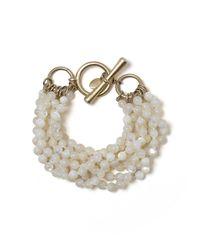 Brooks Brothers | White Motherofpearl Torsade Beaded Bracelet | Lyst