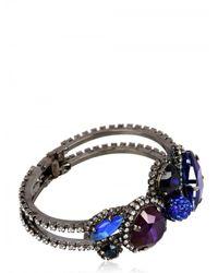 Erickson Beamon   Purple and Blue Crystal Bracelet   Lyst