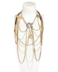 Maria Zureta | Metallic Gold Black Panthers Necklace | Lyst