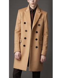 Burberry | Natural Felted Wool Topcoat for Men | Lyst