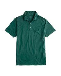 J.Crew | Green Brokenin Pocket Polo for Men | Lyst