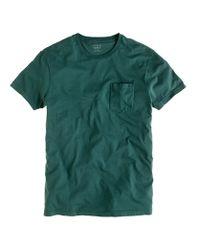 J.Crew - Green Slim Broken-in Pocket T-shirt for Men - Lyst