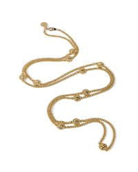 Marc By Marc Jacobs | Metallic Golden Double Wrap Necklace | Lyst