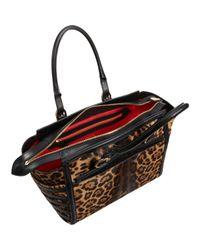 Christian Louboutin | Brown Farida Leopard Print Pony Bowling Bag | Lyst