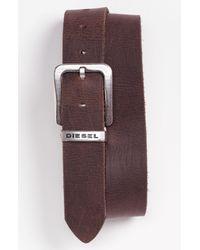 DIESEL | Brown Belt for Men | Lyst