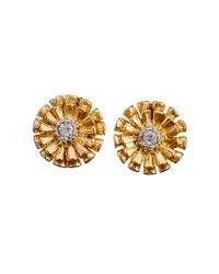 J.Crew | Metallic Marigold Earrings | Lyst