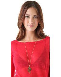 Jennifer Zeuner - Metallic Large Diamond Flame Necklace - Lyst