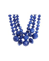 kate spade new york - Blue Give It A Swirl Triple Row Necklace - Lyst