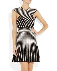 M Missoni - White Two Tone Knitted Dress - Lyst
