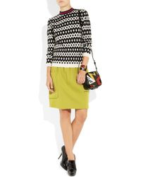 M Missoni | Yellow Pleated Wool Blend Skirt | Lyst