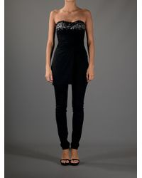 Philipp Plein | Black Strapless Blouse | Lyst