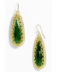 Alexis Bittar | Green Elements Crown Set Teardrop Earrings | Lyst