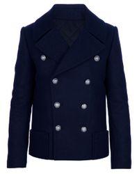 Balmain | Blue Balmain Wool for Men | Lyst