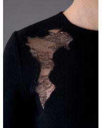 Giambattista Valli | Black Lace Insert Dress | Lyst