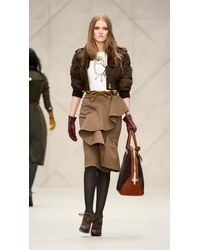 Burberry - Brown Suede Bow Belt - Lyst