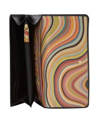 Paul Smith | Black Classic Saffiano Tri Fold | Lyst