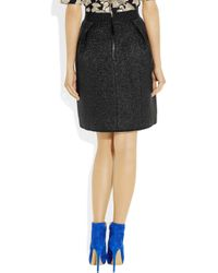 Marc Jacobs | Black Metallic Woolblend Bouclé Skirt | Lyst