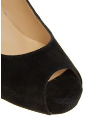 Dune - Black Houston Suede Platform Court Shoes - Lyst