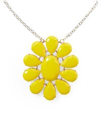 Kate Spade | Yellow Plaza Athenee Pendant Necklace | Lyst