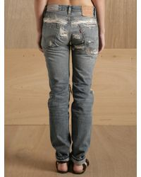 Levi's | Blue Levis Vintage Clothing 505 Jeans Cust Light Ripped | Lyst