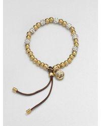 Michael Kors | Metallic Beaded Stretch Bracelet | Lyst
