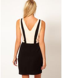 Oasis | Black Colour Block Dress | Lyst