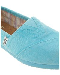 TOMS - Pink Plametto Neon Canvas Flat Shoes - Lyst