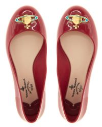 Melissa + Vivienne Westwood Anglomania - Red PlasticBallet Flats - Lyst