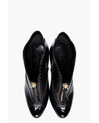 Alexander McQueen | Black Studded Leather Pumps | Lyst