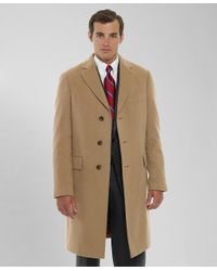 Brooks brothers Camel Hair Regent Coat in Brown for Men | Lyst