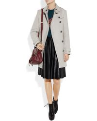 Burberry Brit   Gray Doublebreasted Woolblend Trench Coat   Lyst