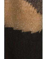Alice + Olivia | Opal Novelty Stitch Pullover in Beigeblack | Lyst