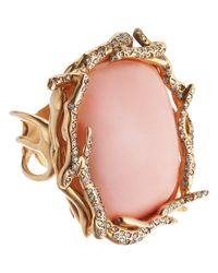 Lucifer Vir Honestus - Pink Peau Dange Coral Diamond Anemone Ring - Lyst