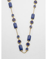 kate spade new york | Blue Pop Palette Scatter Station Necklace | Lyst
