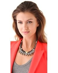 Juicy Couture - Black Spike Collar Necklace with Rhinestones - Lyst