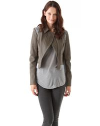Thakoon | Gray Leathercable Bomber | Lyst