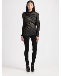Alexander Wang | Black Asymmetrical Shrink Wrap Top | Lyst
