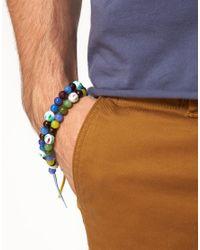 ASOS - Multicolor 2 Pack Bright Multi Bead Bracelet Pack for Men - Lyst